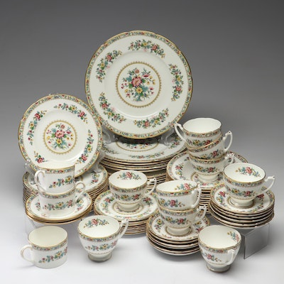 "Coalport ""Ming Rose"" Bone China Dinnerware"