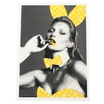 "Death NYC ""LV"" Kate Moss Graphic Print"