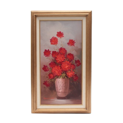 Robert Cox Oil Painting of Roses