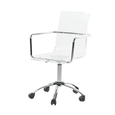 Contemporary Molded Plastic Modern Office Chair