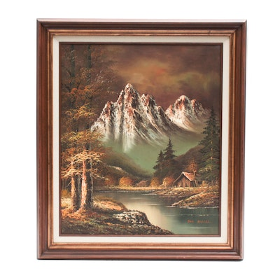Don Rodell Oil Painting of Mountain