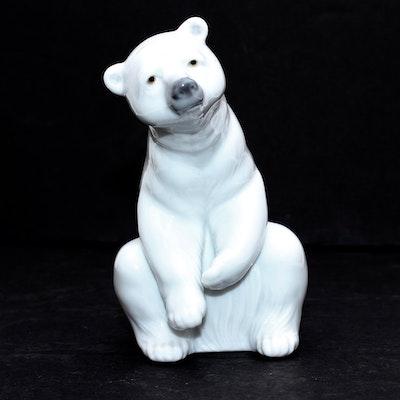Lladro Polar Bear Porcelain Figurine