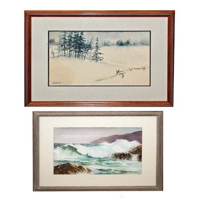 Two Thackston Watercolors