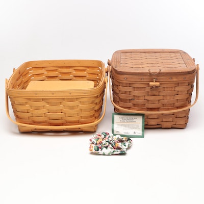 Longaberger Baskets with Garter and Care Instructions
