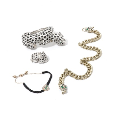 Leopard Theme Costume Jewelry Assortment