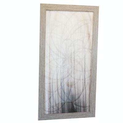 Framed Black & Grey Offset Lithograph Print