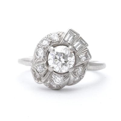 Platinum 1.43 CTW Diamond Ring