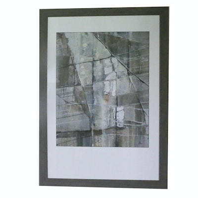 Framed Offset Lithograph Abstract Print