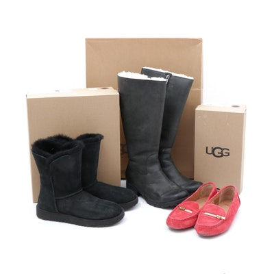 UGG Classic Cuff Short Boots with Tall Broome Boots and Davina Loafers