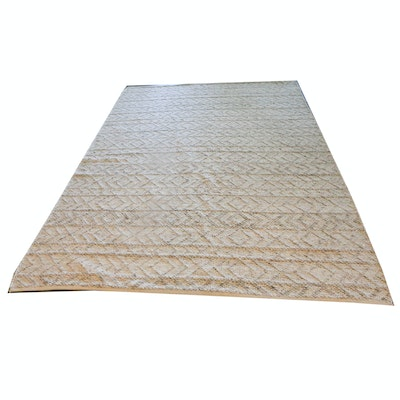 """Power Loomed Surya """"Ingrid"""" Neutral Cotton and Wool Area Rug"""
