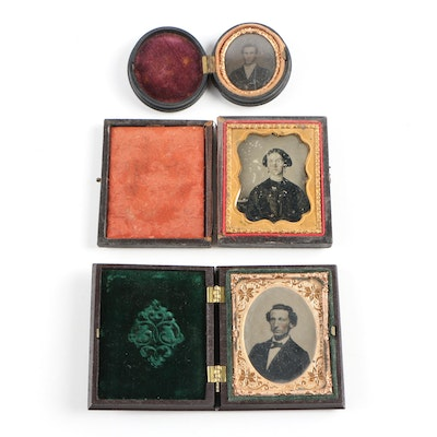 Daguerreotype and Tintype Portraits, Mid to Late 19th Century