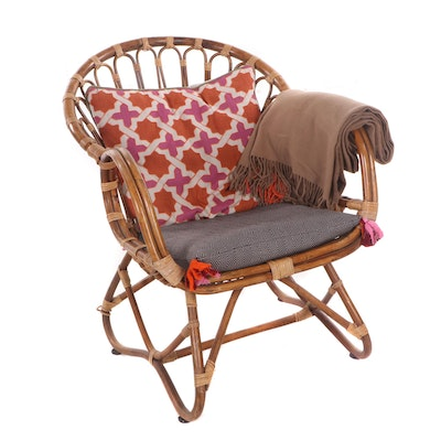Contemporary Rattan Lounge Chair