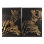 "Ink & Ivy 2-Panel Wall Hanging ""Lux Zebras"""