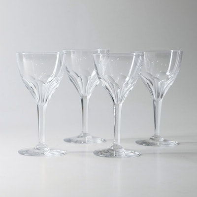 """Nestor Tcpl"" Crystal Wine Glasses by Val St Lambert"