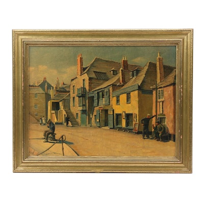 Late 20th Century Giclée after Herbert Truman of Old St. Ives