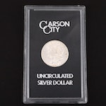 A GSA Very Low Mintage 1885-CC Carson City Morgan Silver Dollar