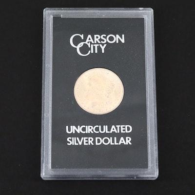 A GSA Very Low Mintage 1881-CC Carson City Morgan Silver Dollar