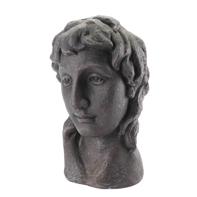 Dark Grey Bust of a Woman