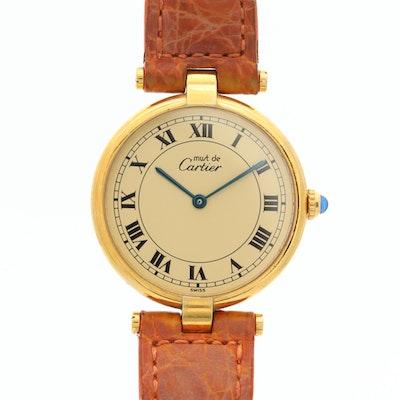 Vintage Cartier Must de Cartier Vermeil Quartz Wristwatch