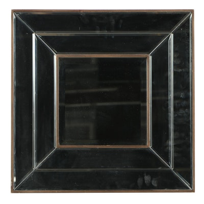 Shadow Box Style Beveled Mirror