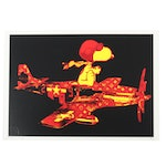 "Death NYC Giclée ""Snoop Plane Red Yellow"""
