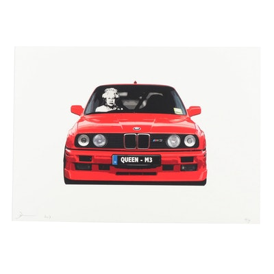 "Death NYC Giclée ""Queen M3 Red"""