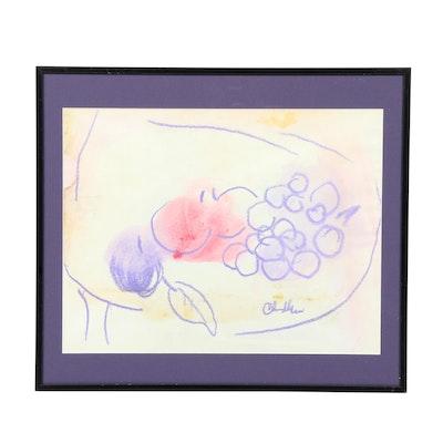 Paul Chidlaw Still Life Pastel Drawing