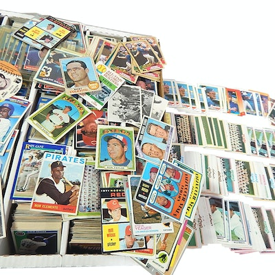 Sports Card Collection with 1964 Topps Clemente, 1980s and Early 1990s