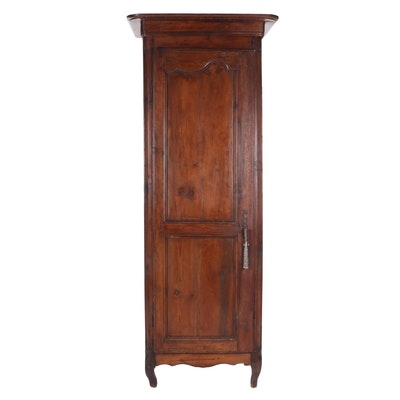 French Provincial, Louis XV Style Pitch Pine Cabinet, 19th Century