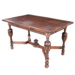 Renaissance Revival Style Oak Draw Leaf Dining Table