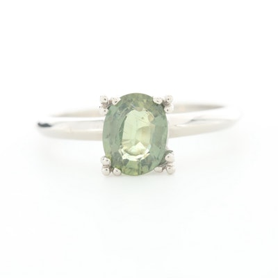 Palladium 1.49 CT Color Change Sapphire Solitaire Ring
