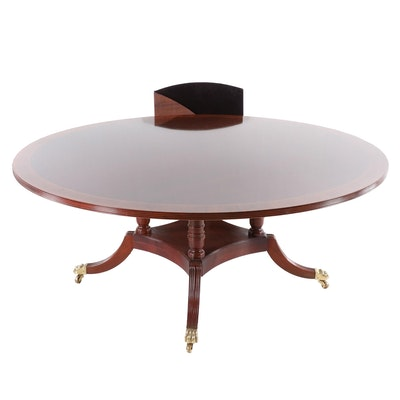 Council Craftsman Banded Mahogany Dining Table, Late 20th Century