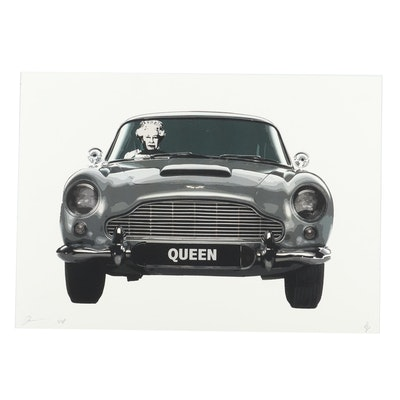 Death NYC Queen in Car Giclée
