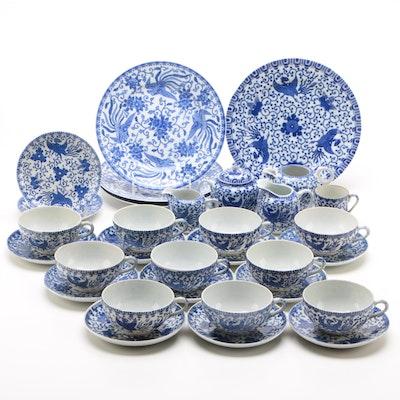 "Blue and White Porcelain Noritake ""Howo"" Tableware 1906-1950"