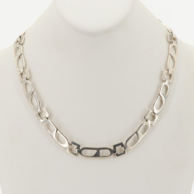 Sterling Silver Openwork Link Necklace