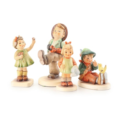 "Goebel Hummel ""Globe Trotter"" and Other Porcelain Figurines"