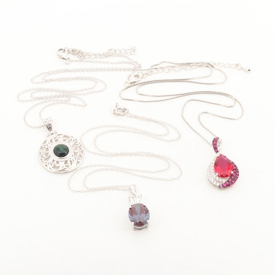 Sterling Silver Necklaces with Gemstones