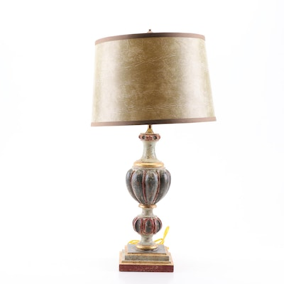 Shades of Light Rustic Painted Wood Table Lamp, Contemporary
