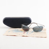 Maui Jim Wailea Titanium Sunglasses with Case