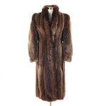 Beaver Fur Coat with Tapered Cuffs, Vintage