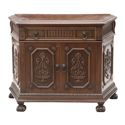 Italian Renaissance Style Walnut Buffet, Early 20th Century