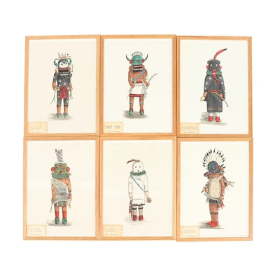 "Elizabeth Roth Miller Acrylic Paintings of ""Hopi Kachina Dolls"""
