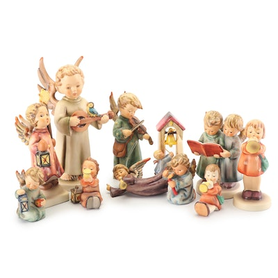 "Hummel ""Angel Duet"" and Angel Themed Porcelain Figurines"