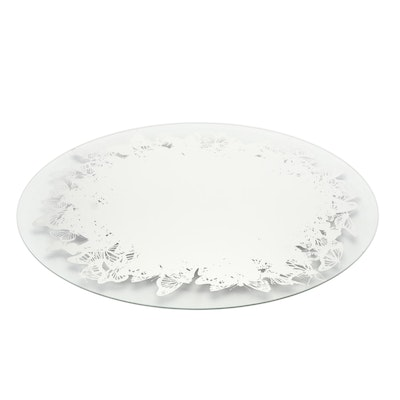 Umbra Oval Butterfly Stenciled Mirror Designed by Adin Mumma, Contemporary