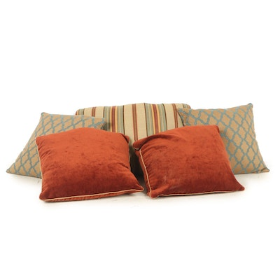Decorative Down Feather Throw Pillows, Contemporary