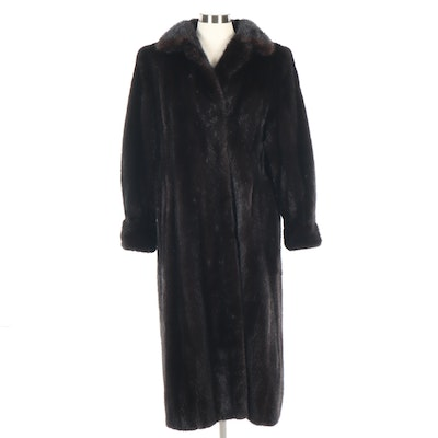 Ranch Mink Fur Full-Length Coat from Marmor & Tivers of Chicago, Vintage
