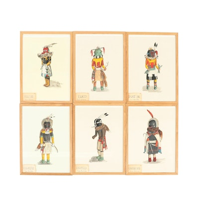 "Elizabeth Roth Miller Acrylic Paintings ""Hopi Kachina Dolls"""