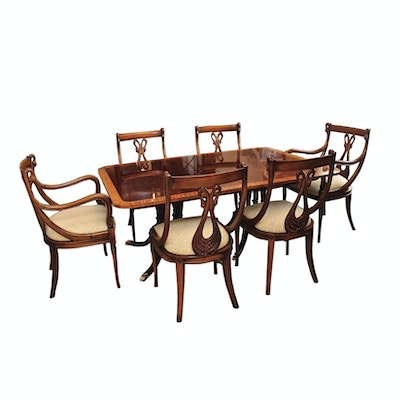 """Baker Furniture """"Historic Charleston Reproductions"""" Dining Table and Chairs"""