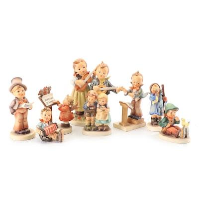 "Goebel Hummel ""Street Singer"", ""Hear Ye, Hear Ye"" and Other Porcelain Figurines"
