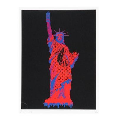 "Death NYC Graphic Print ""Liberty"""
